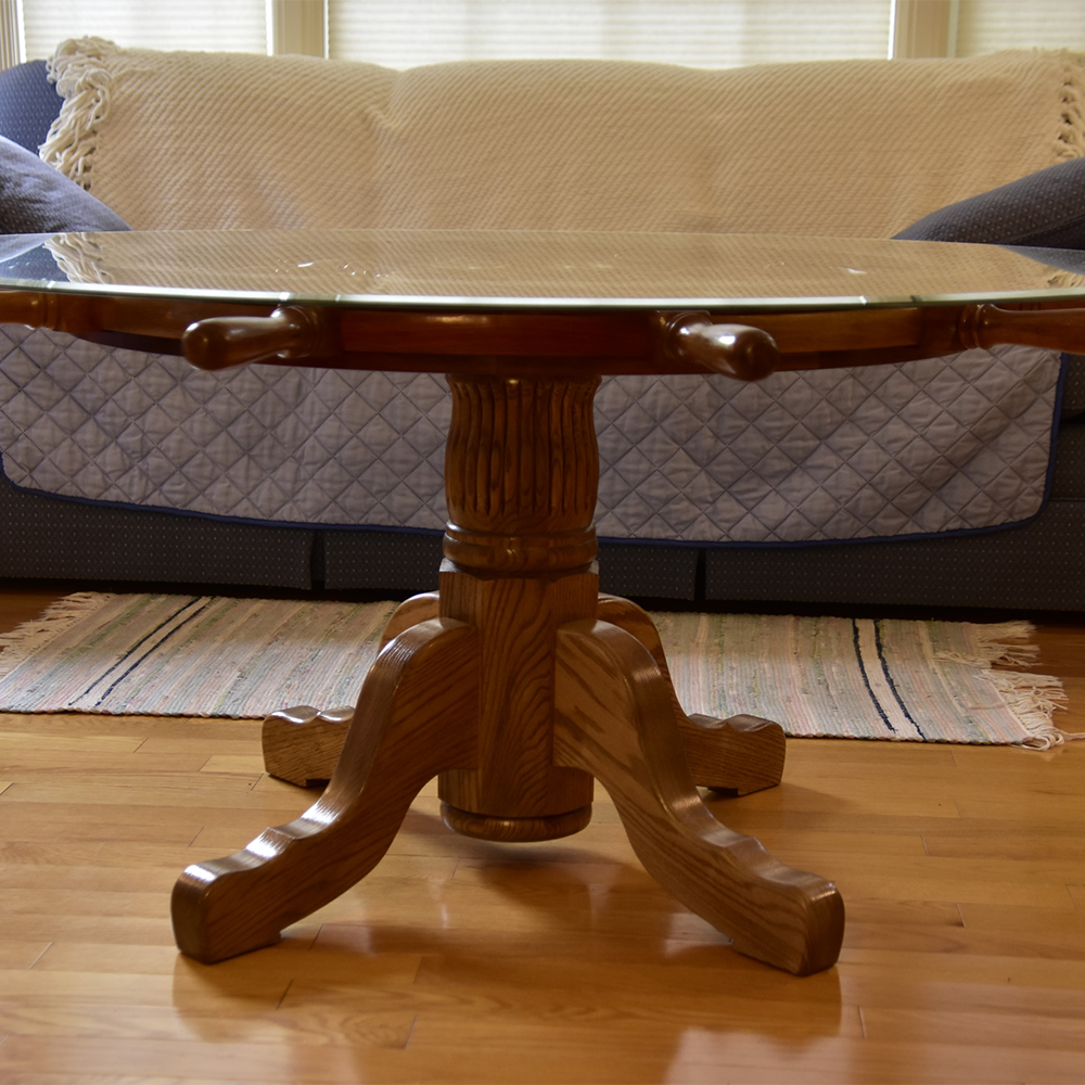Table Pedestals can be a great alternative to table legs.