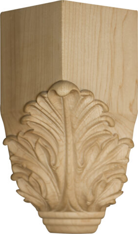 Acanthus Leaf Inside Corner Block