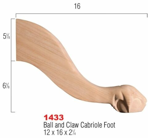 Ball and Claw Cabriole Foot