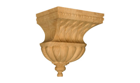 Bell Corbel with Basket Weave