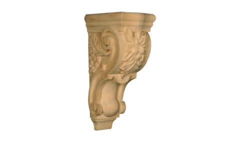 Carved Acorn Corbel