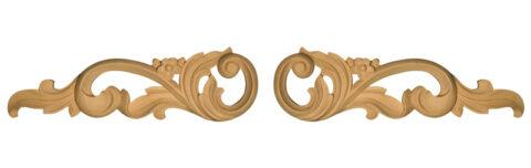 Carved Scrolls (Pair)
