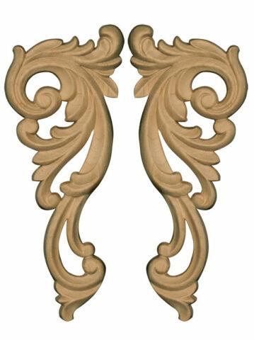 Decorative Corner Carvings (Pair)