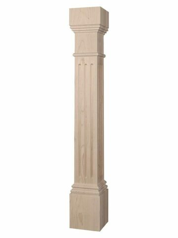 Fluted Traditional Square Cabinet Column