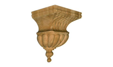 Large Bell Corbel with Basketweave