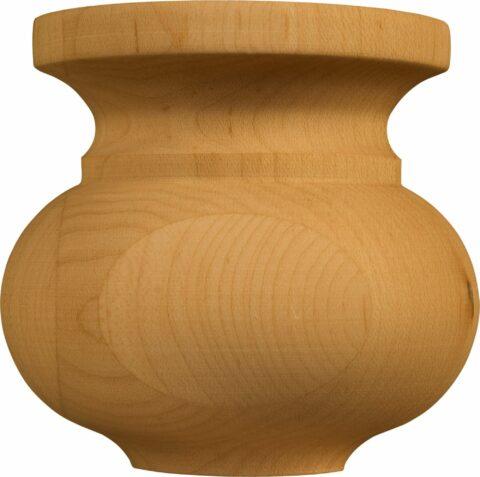 Lg. Traditional Half Round Squat Plinth