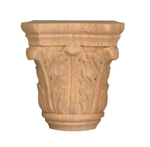 Medium Acanthus Half Round Capital