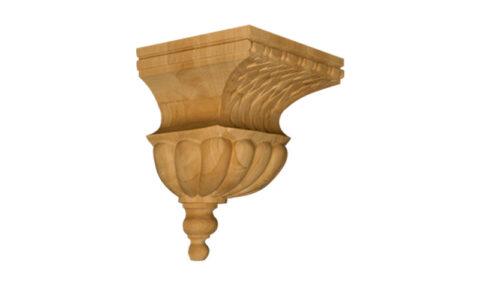 Medium Bell with Basket Weave Corbel