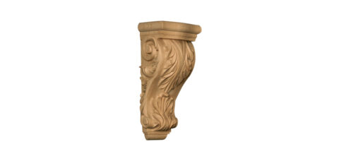 Mid-Sized Carved Acanthus Leaf Corbel