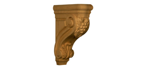 Mid-Sized Carved Grape Corbel