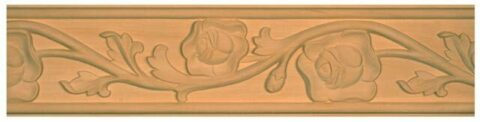 Rose Carved Chair Rail