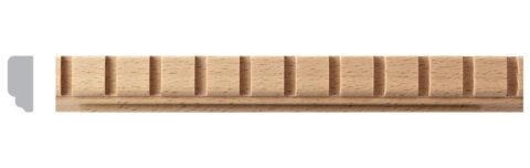 Simple Dentil Moulding - 4 ft