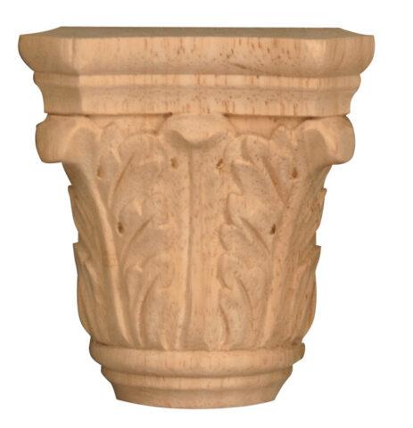 Small Acanthus Half Round Capital