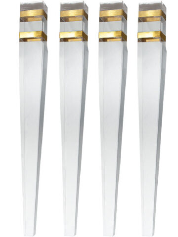 SOLD AS A SET OF FOUR~Four Sided Tapered Acrylic Dining Table Legs