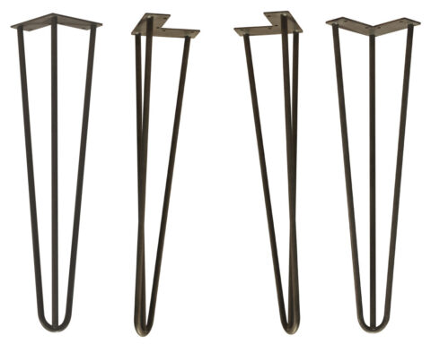 SOLD AS A SET OF FOUR~Hairpin Metal Table Legs