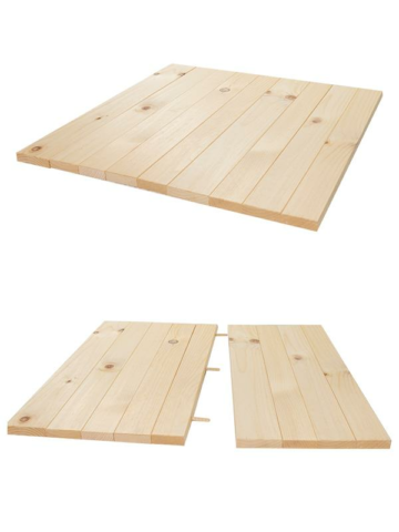 Square Rustic Plank Table Kit (2 person table)