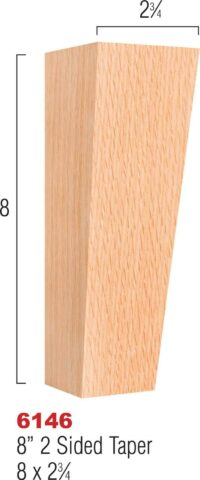 Two Sided Taper Leg