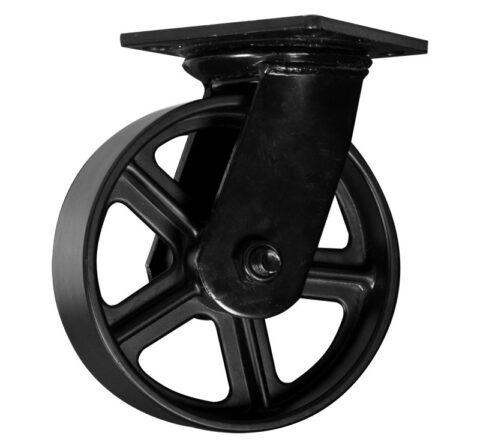 "Vintage Cast Iron Caster 6"" Wheel"