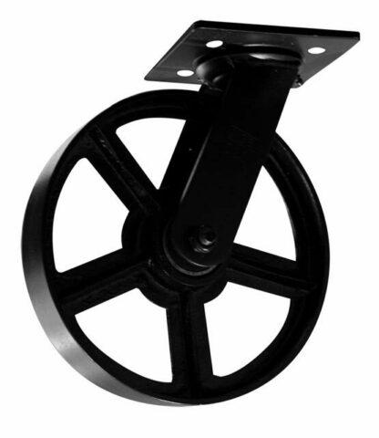 "Vintage Cast Iron Caster 8"" Wheel"